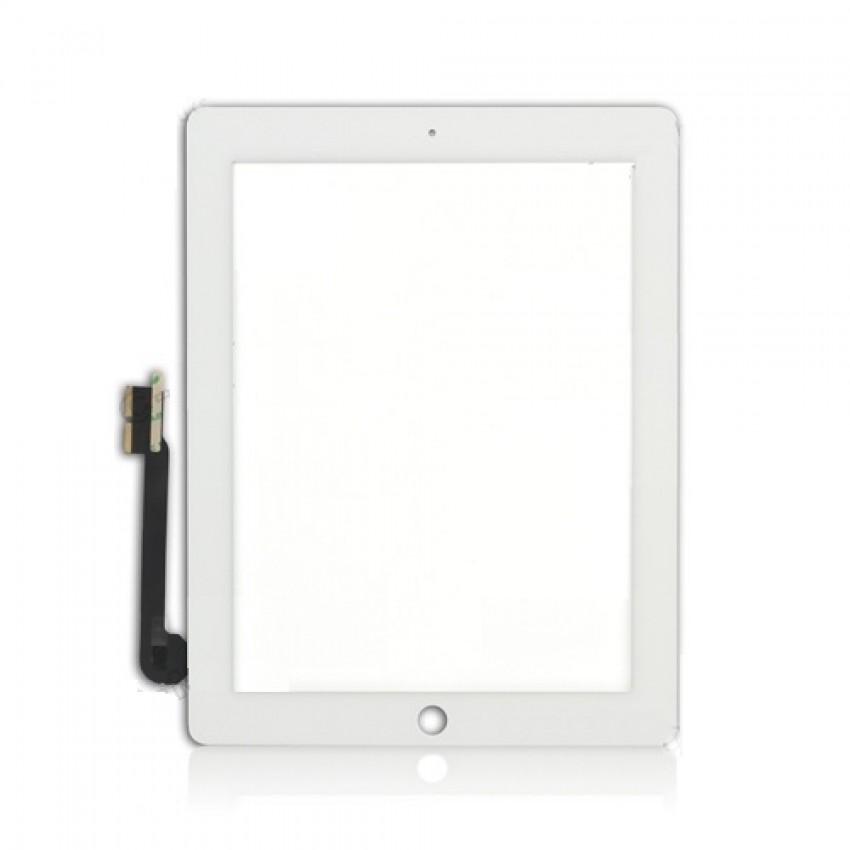 Lietimui jautrus stikliukas iPad 3/iPad 4 baltas HQ