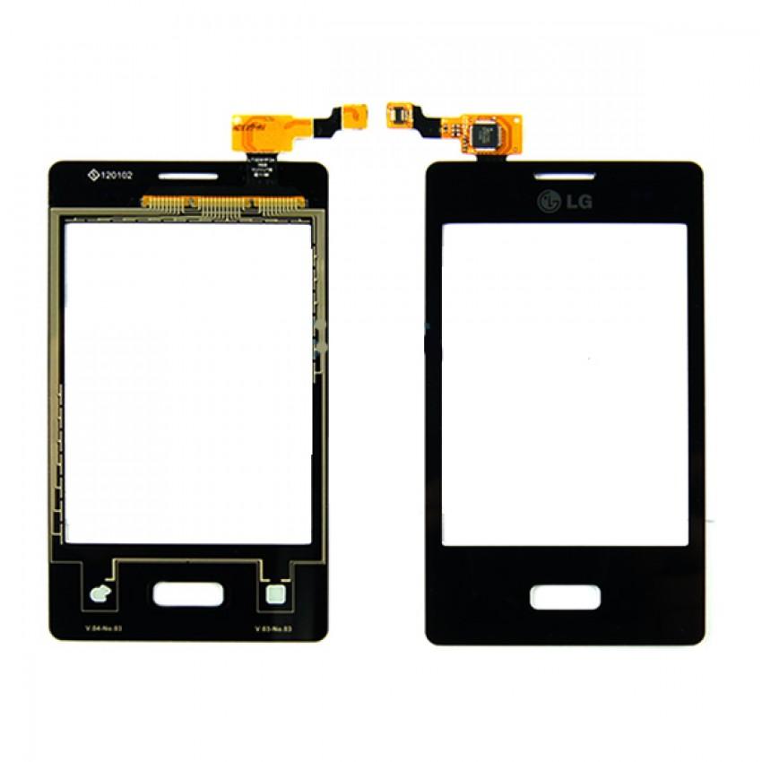 Lietimui jautrus stikliukas LG E400 L3 juodas HQ
