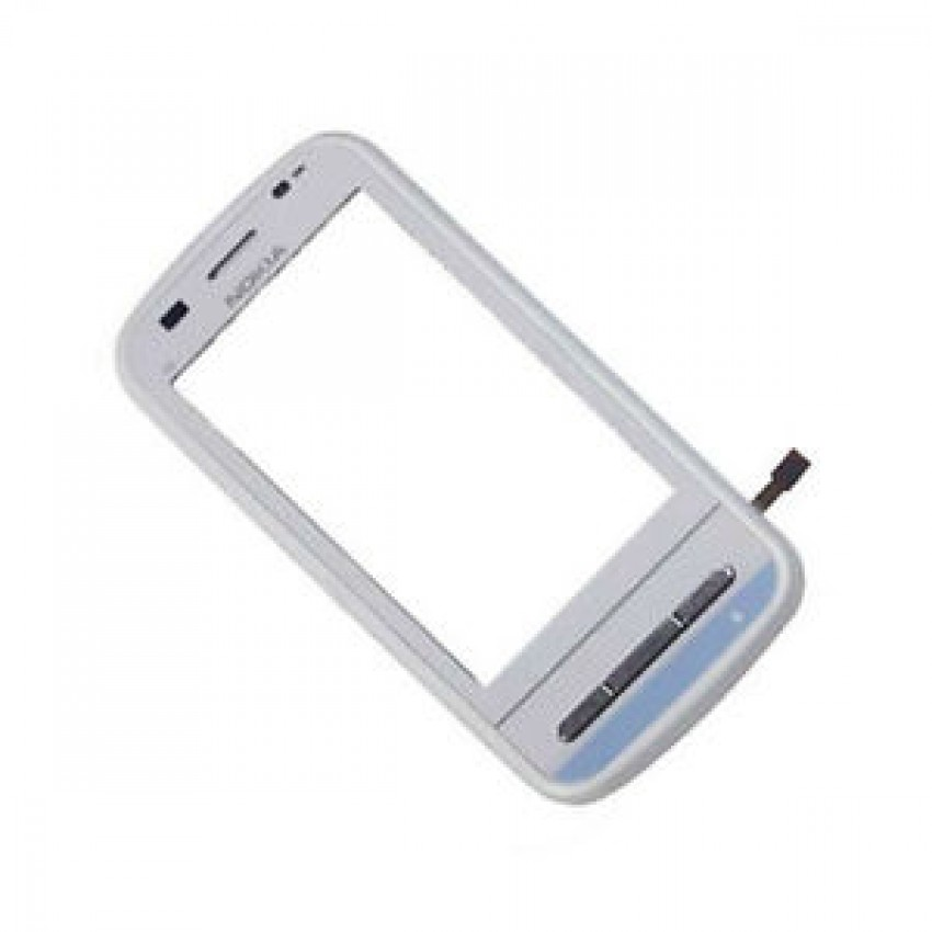 Touch screen Nokia C6-00 with frame white HQ