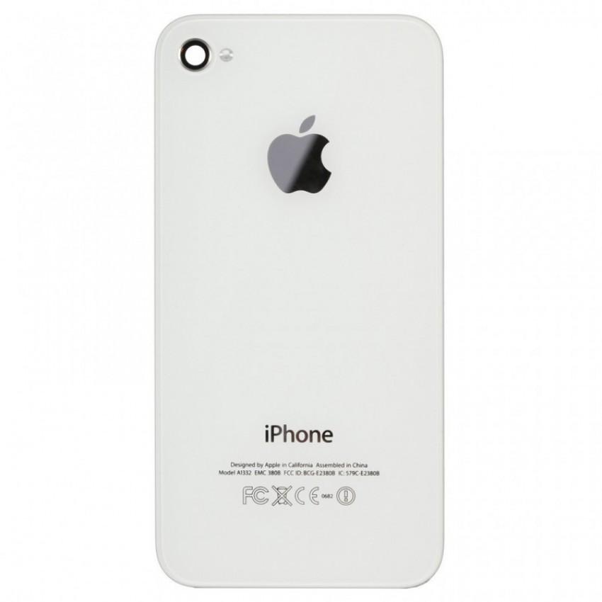 Galinis dangtelis iPhone 4G baltas ORG