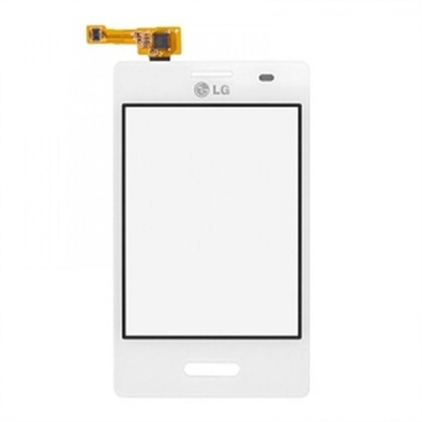 Lietimui jautrus stikliukas LG E430 L3-II baltas HQ
