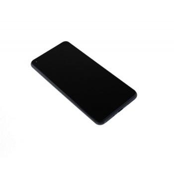Ekranas Xiaomi Mi 11 Lite 4G 2021 su lietimui jautriu stikliuku su rėmeliu juodas originalus (service pack)